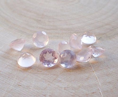 4mm Natural Rose Quartz Faceted Cut Round Top Quality Pink Color Loose Gemstone Wholesale Lot For Sale 10 Pieces (Cut Faceted Pear)
