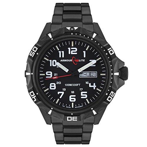 Armourlite Professional Series AL1402 Black Steel Tritium Watch