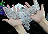 Crystal applique rhinestone applique wedding applique beaded crystal patch DIY wedding sash, headband, headpiece
