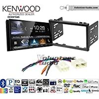 Volunteer Audio Kenwood DDX9704S Double Din Radio Install Kit with Apple Carplay Android Auto Fits 1998-2000 Mazda 626