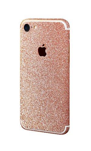 best service 9220a 83d0f PaLus® Luxury iPhone 7 Glitter Bling Body Skin Stickers + Suede Cloth  (iPhone 7, Peach)