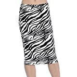HKR Collections Women's Fitted Stretch Midi Pencil Skirt