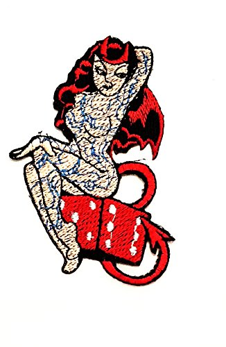 Nipitshop Patches Sexy Pin Up Girl Hot Red Head Chopper Bike Motorcycle Cartoon Patch Biker Motorcycle Rider Novelty Patch for Clothes Backpacks T-Shirt Jeans Skirt Vests Scarf Hat ()