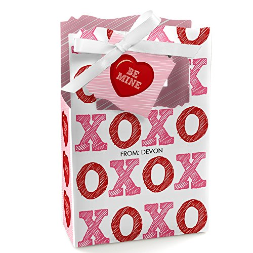 Custom Valentine's Day Conversation Hearts - Personalized Valentine's Day Party Favor Boxes - Set of 12 (Personalized Conversation Hearts)