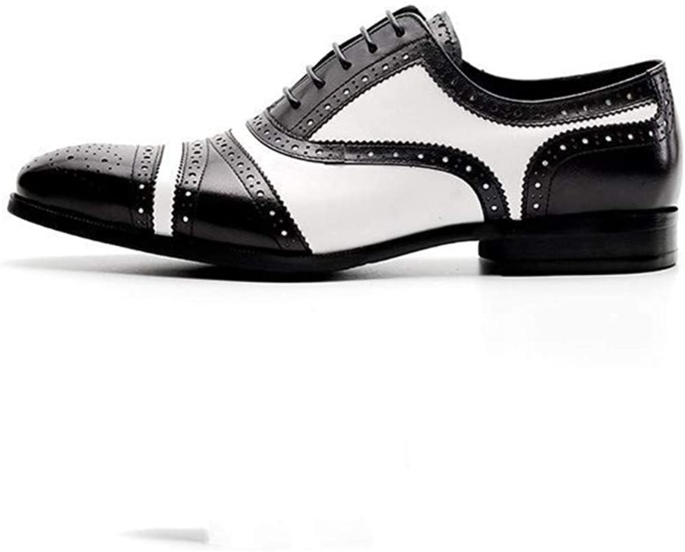 Business Casual Mens Shoes Carved Mens Color Matching Shoes