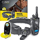 Dogtra 1900S HANDSFREE Remote Training Collar - 3/4 Mile Range, Waterproof, Rechargeable, Shock, Vibration, Hands Free Remote Controller - Includes PetsTEK Dog Training Clicker