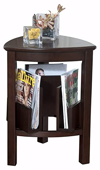 Ashley Furniture Signature Design   Larimer End Table   Chair Side Accent  Table   Triangular