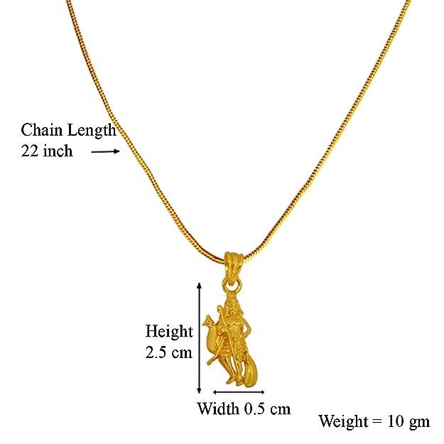 Menjewell Spiritual Collection Gold Plated Lord Murugan Kartikeya