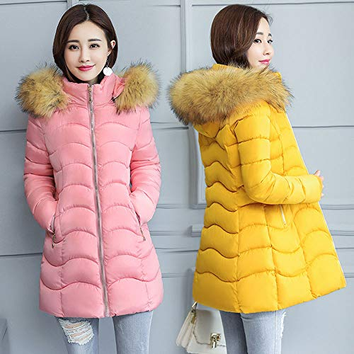Size Warm Casual for 2 Coat Fashion Women Fit Women Down BURFLY Puffer Slim Jackets Short Plus Outwear Jacket Winter Ladies Solid S~3XL Overcoat Coats Pink 4Xnzawnq