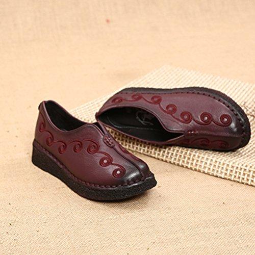 Vogstyle Damen Neue Flache Schuhe Laura Vita Casual Slipper Art 5 Wein