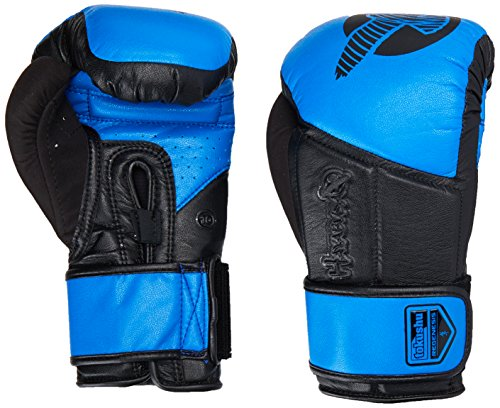 Hayabusa Fightwear Tokushu Regenesis 10oz Gloves, Black/Blue, 10 oz.