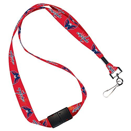 WinCraft NHL Washington Capitals Lanyard with Breakaway, 3/4