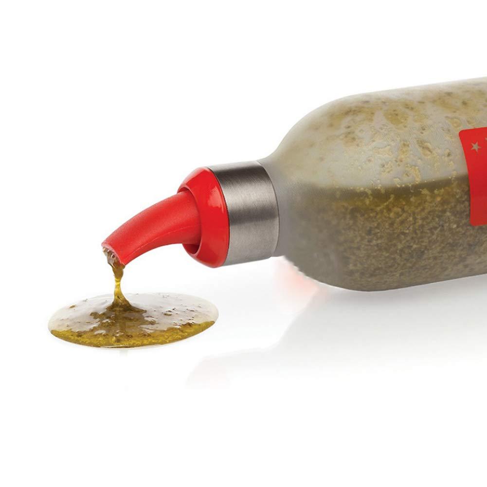 Unicoco So/ße-Flaschen 4Pcs Kunststoff Squeeze Squirt W/ürze Flaschen Ketchup Dispenser BBQ Menage Halter Essig Topf