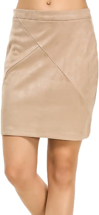 Faldas Mujer Cintura Alta Slim Fit Con Zip Cortas Falda Tubo ...