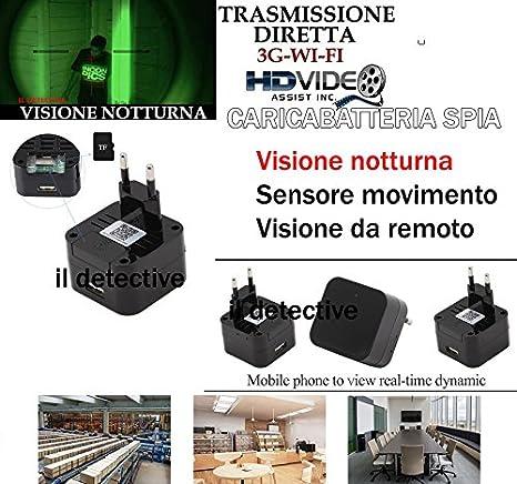 Cámara Espía Oculta IP P2P de alimentación cámara espía Wifi Micro Camera Transmisión Video: Amazon.es: Bricolaje y herramientas