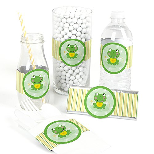Froggy Frog - DIY Party Supplies - Baby Shower or Birthday Party DIY Wrapper Favors & Decorations - Set of 15