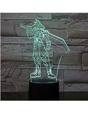 Wangzhuoyue 3D Led-Nachtlampje Multicolor Decoratieve Verlichting Jongens Kinderen Kraamcadeaus Game Kingdom Hearts Lamp Bedside Gift