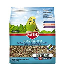Kaytee Forti Diet Pro Health Bird Food for Parakeet, 5-Pound