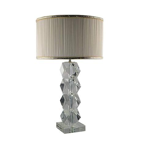 Lámpara de mesa JFHGNJ Lámpara hecha a mano Pila de facetas ...