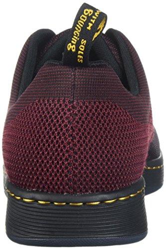 Dr. Martens Unisex Adults' Cavendish Knit Oxford, Oxblood/Black Oxblood / Black