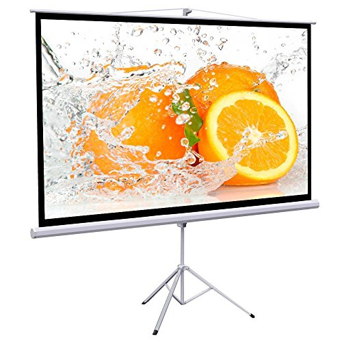 Yaheetech Projection Screen 100 Inch 16:9 Manual Pull Down Projector Screen 87