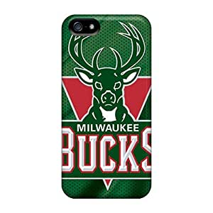 Fashion Protective Milwaukee Bucks Case Cover For Iphone 5/5s