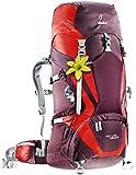 Deuter Damen Trekkingrucksack ACT Lite, Aubergine-Fire, 75 x 30 x 25 cm, 45+10 Liter, 334021555220