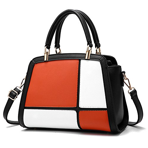 GWQGZ Nueva Moda Lady'S Solo Hombro Inclinado Spanning Handbag Naranja Orange