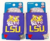 SET OF 2 LSU TIGERS CAN KADDY KOOZIES Review