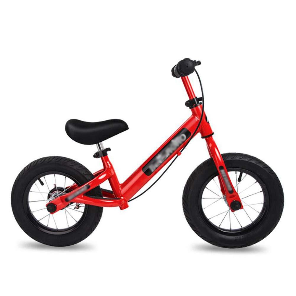 Bicicletta Senza Pedali Balance Bike, Manubri Regolabili Pneumatici Air Seat, per Bambini 2-6 Anni, Telaio in Acciaio al Carbonio (colore   Red)