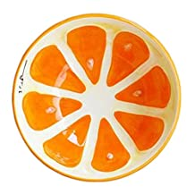 Creative Ceramic Fruit Tableware Cute Home Decorative Bowl (Orange)