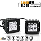 00 silverado 2500 grill - 3X3 Inch 18W Flood Pods Cube Offroad Fog Lights Auxillary Reverse Backup Lights On Rack Bumper Grill Windshield For Polaris Jeep Truck Rzr Utv Boat Motorcycle Atv Suv Ram Klr650 Tundra Wrangler Ford