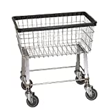 R&B Wire 96B Light-Duty Wire Frame Metal Laundry Cart - Chrome