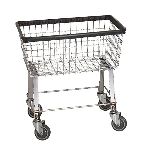 R&B Wire 96B Light-Duty Wire Frame Metal Laundry Cart - Chrome by R&B Wire