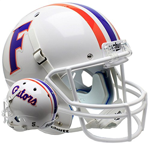 Schutt NCAA Florida Gators On-Field Authentic XP Football Helmet, White Alt. 1
