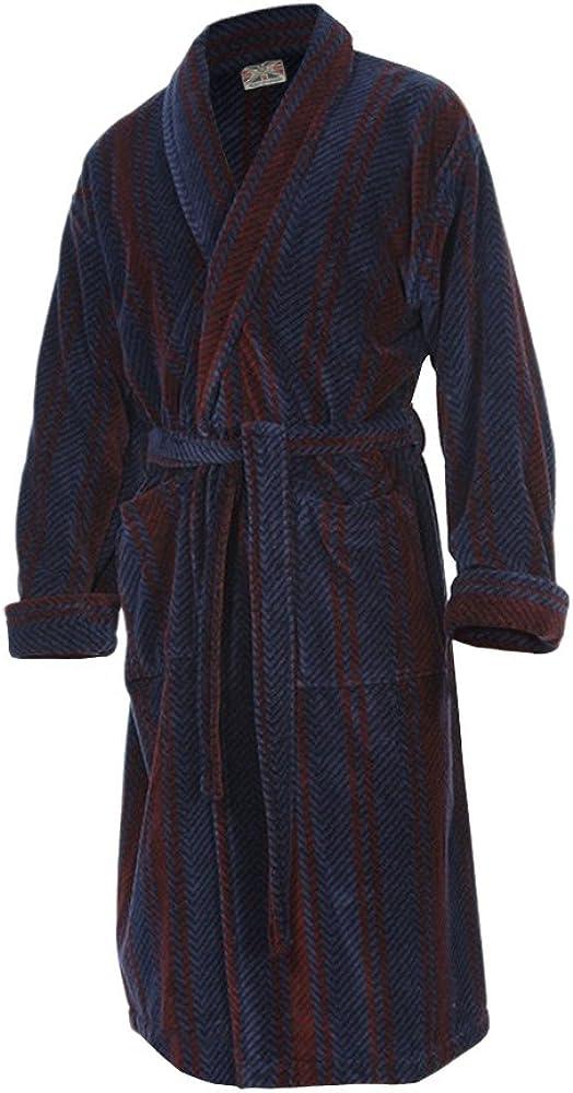 Bown of London Albornoz de Terciopelo 100% algodón Egipcio - Hombre (M): Amazon.es: Ropa y accesorios