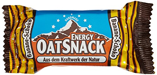 Energy OatSnack, natürliche Riegel - von Hand gemacht, Banane-Schoko, 15x65g, 1er Pack (1 x 975g)