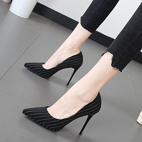 Xue Qiqi Mädchen hochhackigen Schuh tipp Licht - Fuß mit mit mit weiblichen Schuhe die Gitter waren 04b621