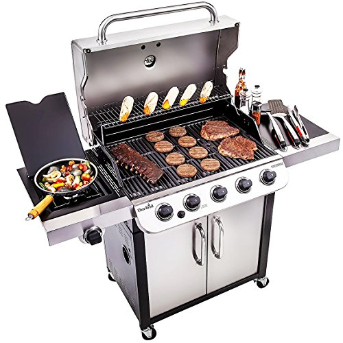 Char Broil Performance 550 5 Burner Cabinet Liquid Propane