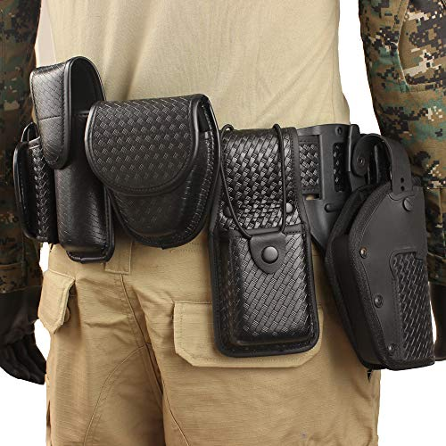 LytHarvest 10-in-1 Police Duty Utility Belt Rig, Security Guard Modular Law Enforcement Duty Belt with Pouches - Handcuff Case, Radio Pouch, Pistol Holster, Glove Pouch, Light Holder (Large)