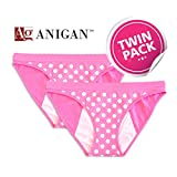 Anigan Stainfree Period Panty 2 Pack Bikini, Pink, Medium