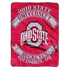 "Northwest Ohio State Buckeyes 60""x80"" Royal Plush Raschel Rebel Design Throw Blanket"