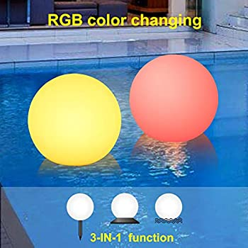 Amazon.com : SUNWIND Solar Pool Light Outdoor Color Changing LED Ball Light Waterproof Swimming Pool Floating Lights with Remote Control for Pathway, Garden, Patio Decorative Lighting (8-inch Ball) : Garden & Outdoor