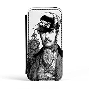 1860's Lord Premium Faux PU Leather Case, Protective Hard Cover Flip Case for Apple? iPhone 5 / 5s by Gangtoyz + FREE Crystal Clear Screen Protector