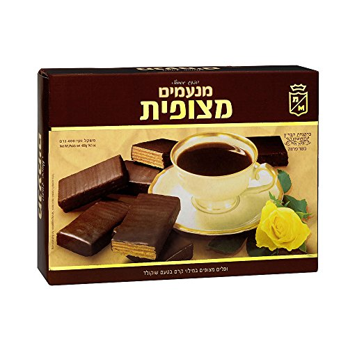 Filled Wafers Chocolate Cream (Manamim Coated Wafers Filled With Chocolate Cream 14.1 Oz. Pk Of 3.)