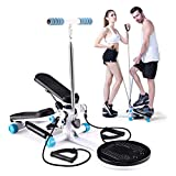 ZXR-Step machine Stepper Mini Slimming Stovepipe Weight Loss Multi-Function Hydraulic Quiet Small Free Installation with Pull Cord to Let You Stay at Home Fitness Equipment Rosclou@