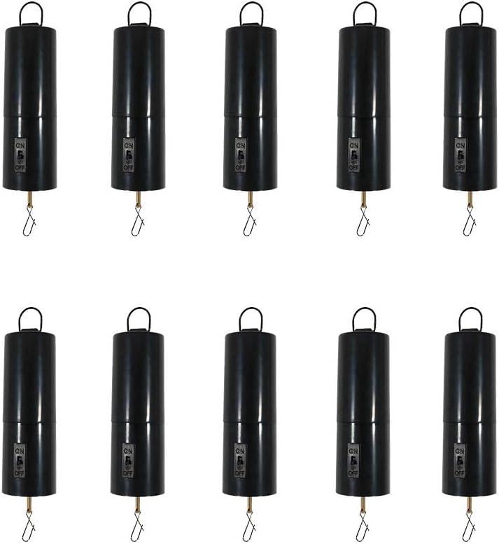 10Pcs Battery Powered Wind Spinner Black Rotating Motor