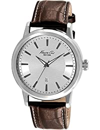 Kenneth Cole New York Men's KC1952 Modern Core Stainless Steel Watch with Brown Leather Strap