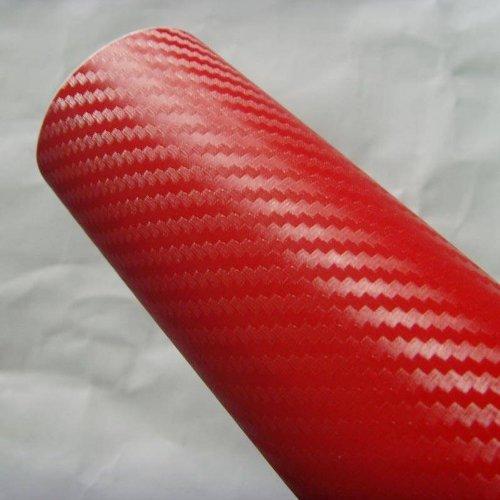- DIYAH 3D Red Carbon Fiber Film Twill Weave Vinyl Sheet Roll Wrap DIY Decals 12