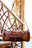 Handcrafted exports Vintage Rustic Leather Duffle Shoulder Bags